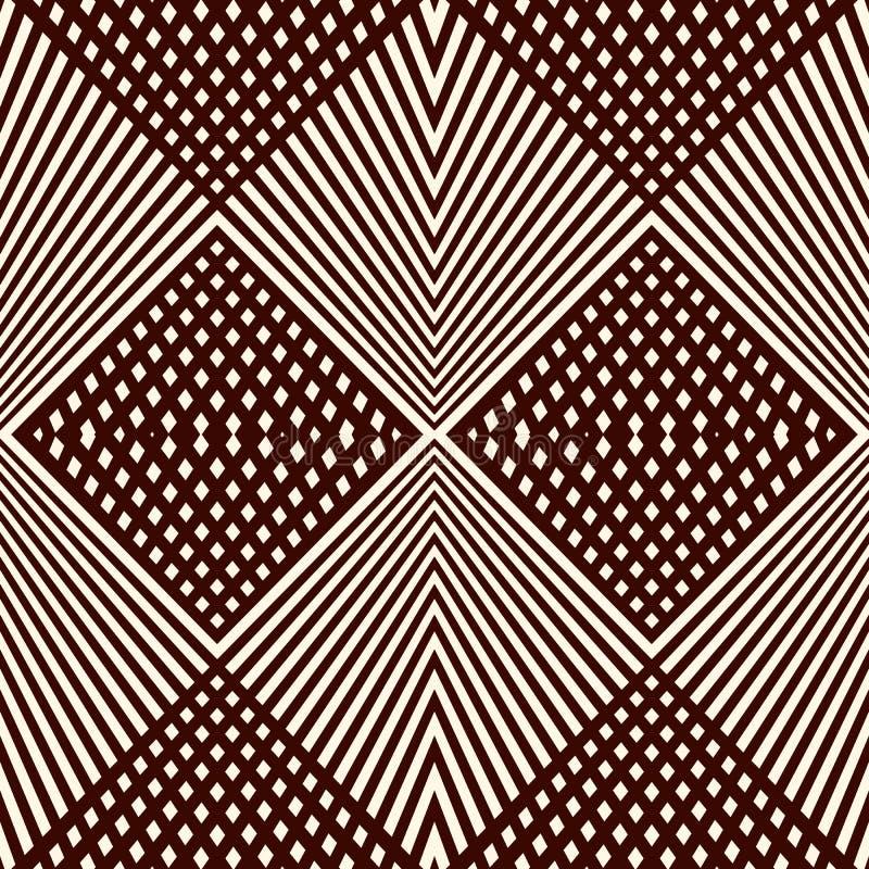 La diagonal traslapada alinea el fondo Textura a cuadros escasa de la rejilla Modelo inconsútil del esquema con el ornamento geom libre illustration