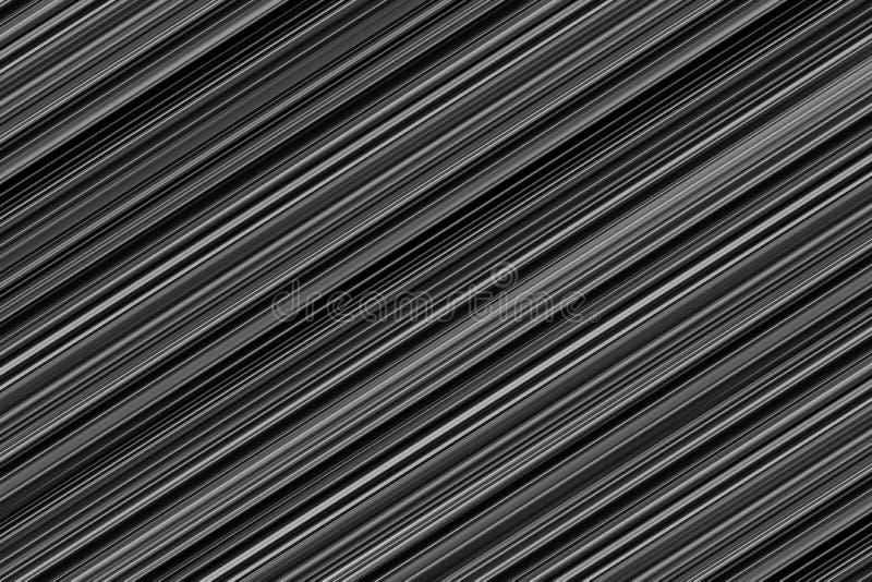 La diagonale à nervures noire gris-clair d'effet de texture de fond en métal barre la base monochrome illustration de vecteur