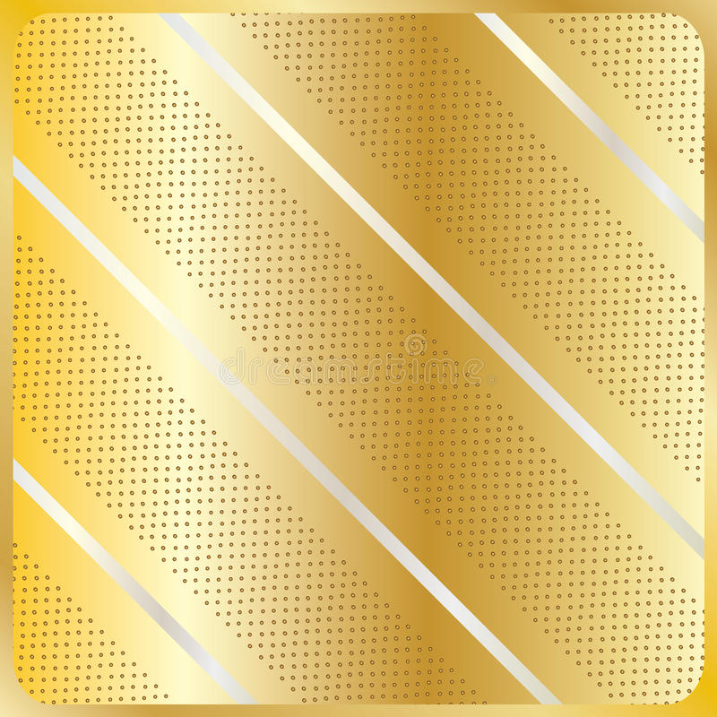La diagonale barre le modèle géométrique d'or illustration libre de droits