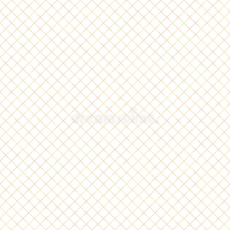 La diagonale croisée sans couture légère raye le modèle géométrique plan rapproché illustration de vecteur