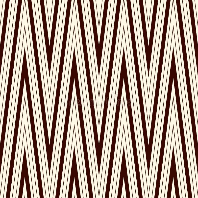 La diagonale de Chevron barre le modèle sans couture avec l'ornement géométrique classique Le zigzag d'ensemble raye le papier pe illustration de vecteur