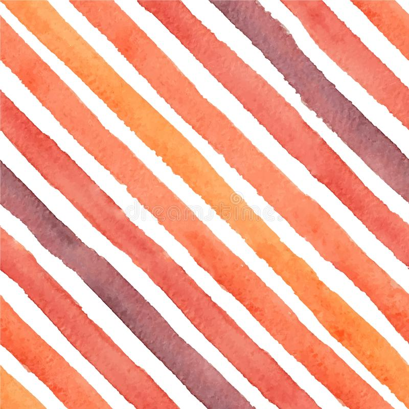 La diagonale dipinta a mano di vettore segna il modello senza cuciture royalty illustrazione gratis