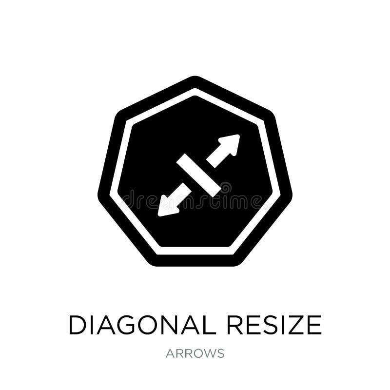la diagonale remettent à la côte l'icône dans le style à la mode de conception la diagonale remettent à la côte l'icône d'isoleme illustration libre de droits