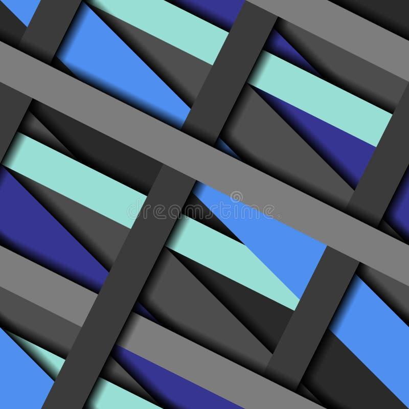 La diagonale spoglia il modello illustrazione di stock