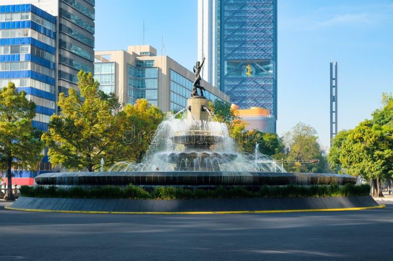 La Diana la fontana della cacciatrice in Città del Messico immagini stock