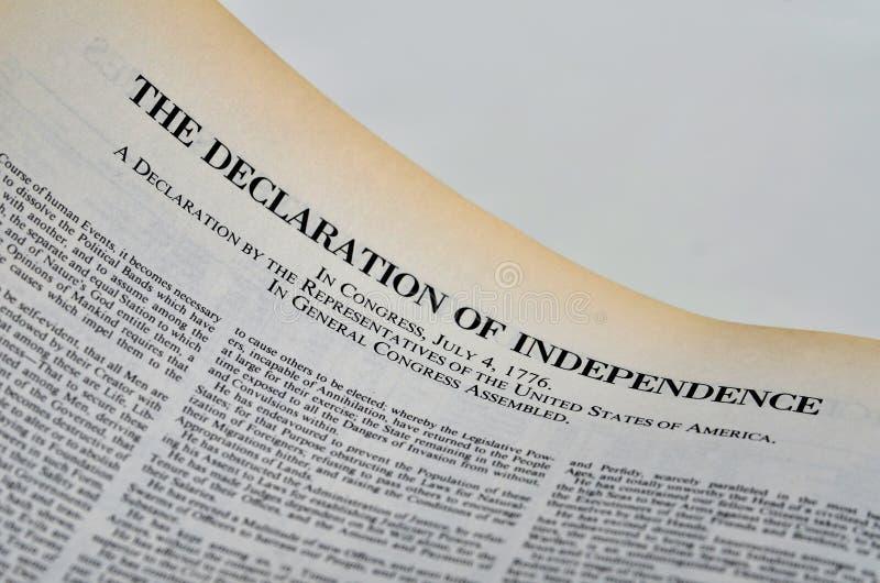 La dichiarazione di indipendenza fotografie stock