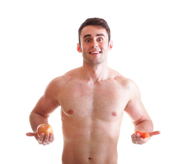 La dieta de la zanahoria de Apple, sirve el gran cuerpo aislado imagenes de archivo