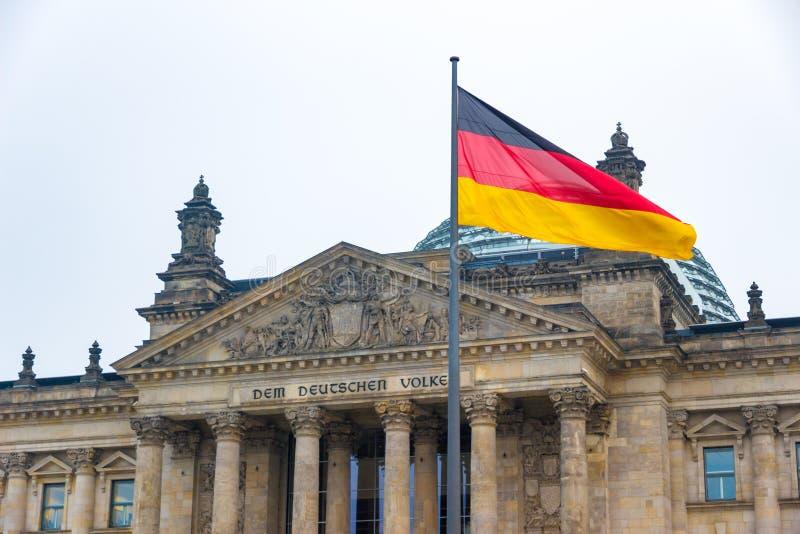 La dieta federale di Bundestag a Berlino, Germania, nell'inverno fotografie stock libere da diritti