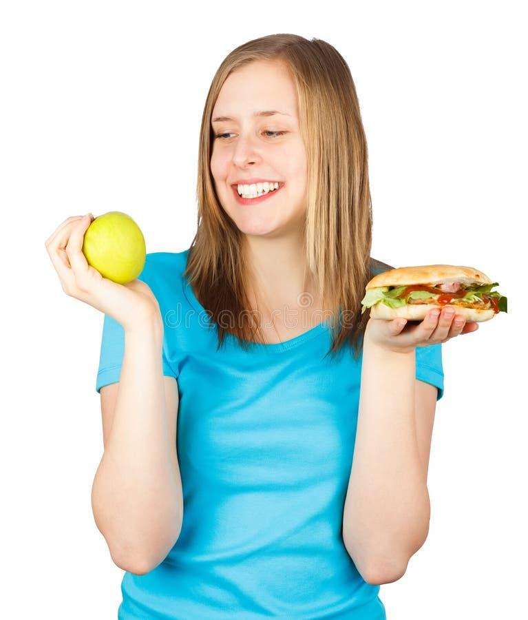 La dieta sana è la mia scelta! immagine stock libera da diritti