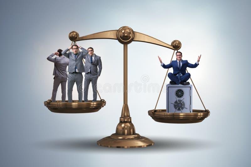 La différence entre le concept riche et pauvre de personnes illustration libre de droits