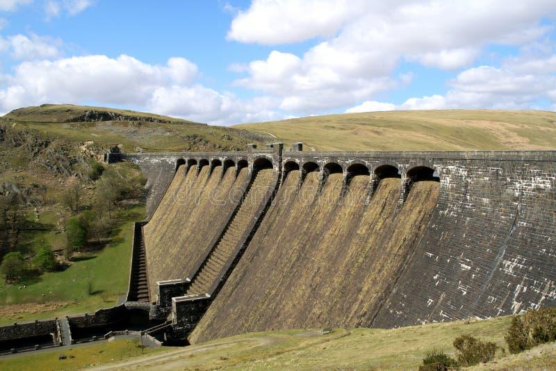 La diga di Claerwen. fotografia stock