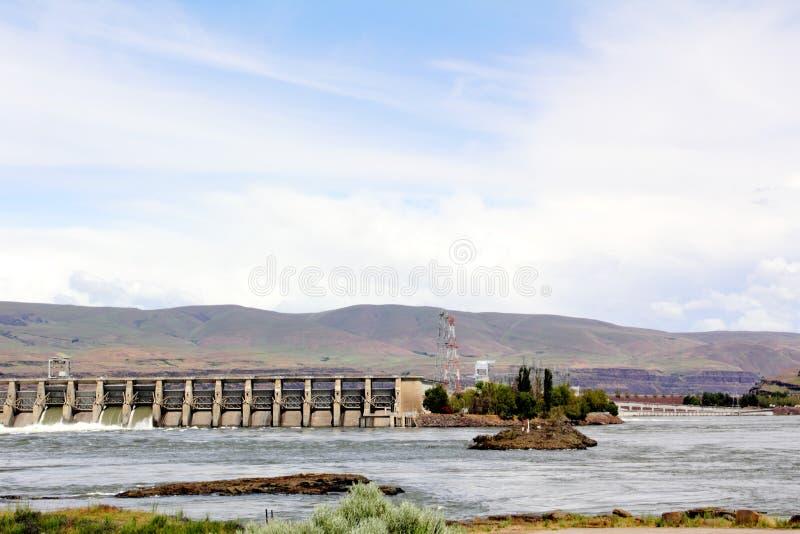 La diga di Dalles fotografia stock