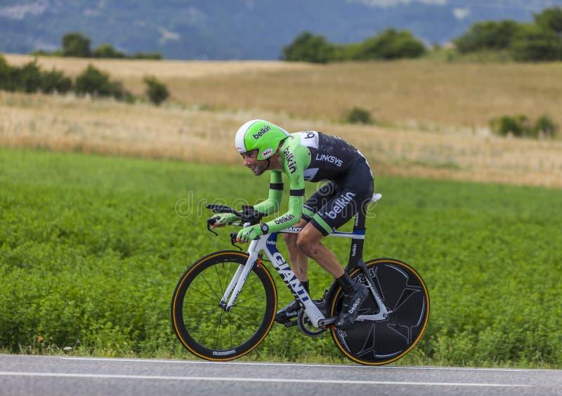 La Diga Di Laurens Dieci Del Ciclista Fotografia Editoriale