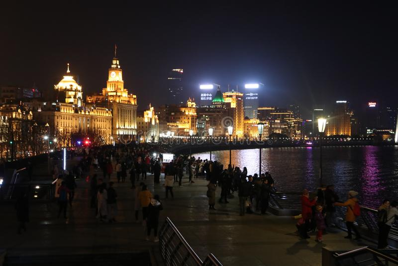 La diga, Schang-Hai immagine stock libera da diritti