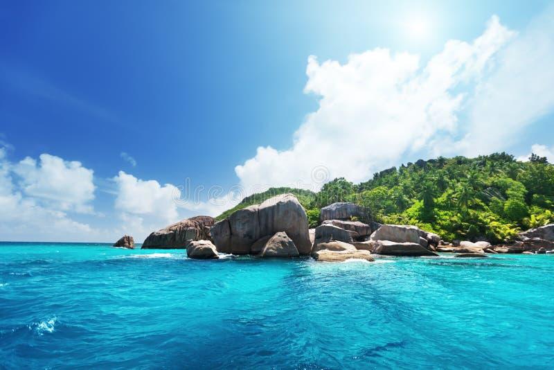 La Digue island, Seychelles stock photography