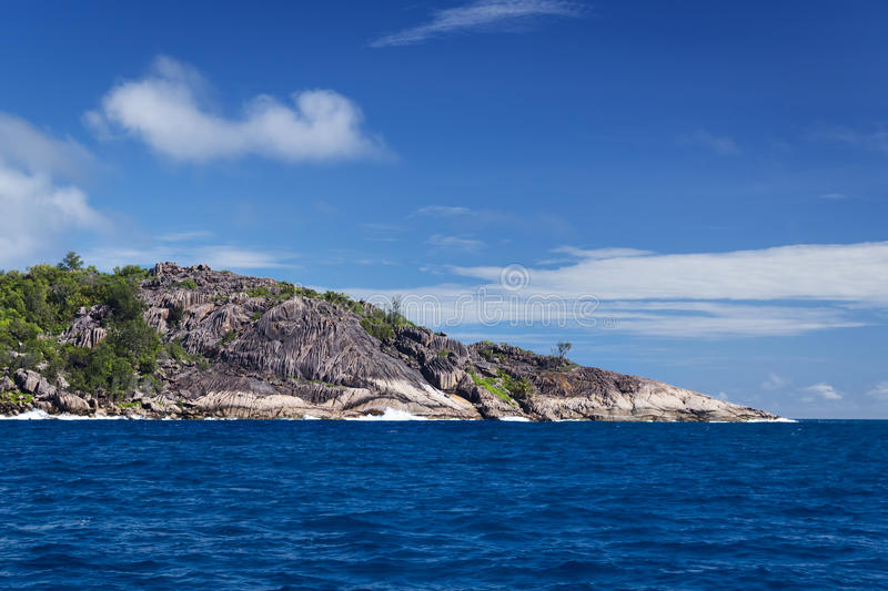 La Digue island, Seychelles. The island of dreams for a rest and relaxation. A heavenly place stock photography