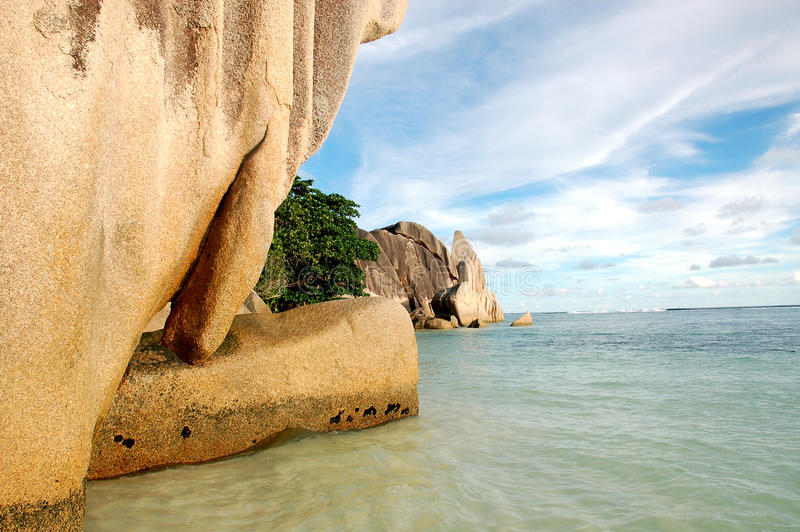 Download La Digue rock formations stock photo. Image of boulders - 9866036
