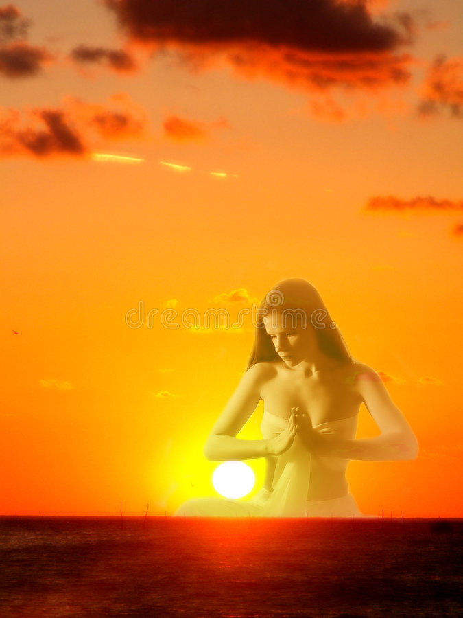 La diosa del sol imagen de archivo libre de regalías