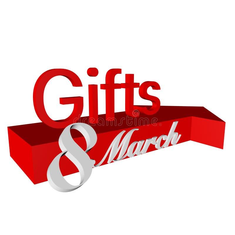 La dirección de regalos foto de archivo libre de regalías