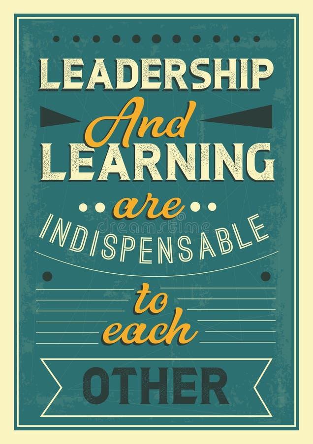La dirección y el aprendizaje son imprescindibles citan el uno al otro libre illustration