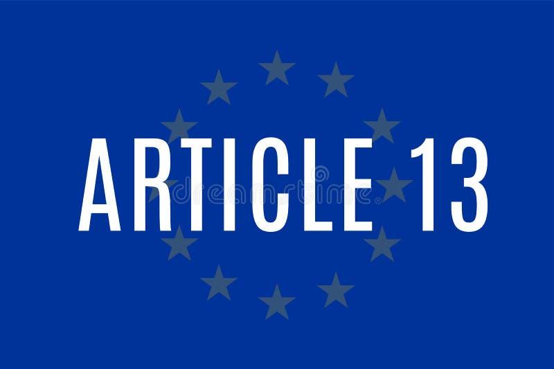 La direttiva europea di Copyright, compreso l'articolo 13 è stata approvata dai membri del Parlamento Europeo royalty illustrazione gratis