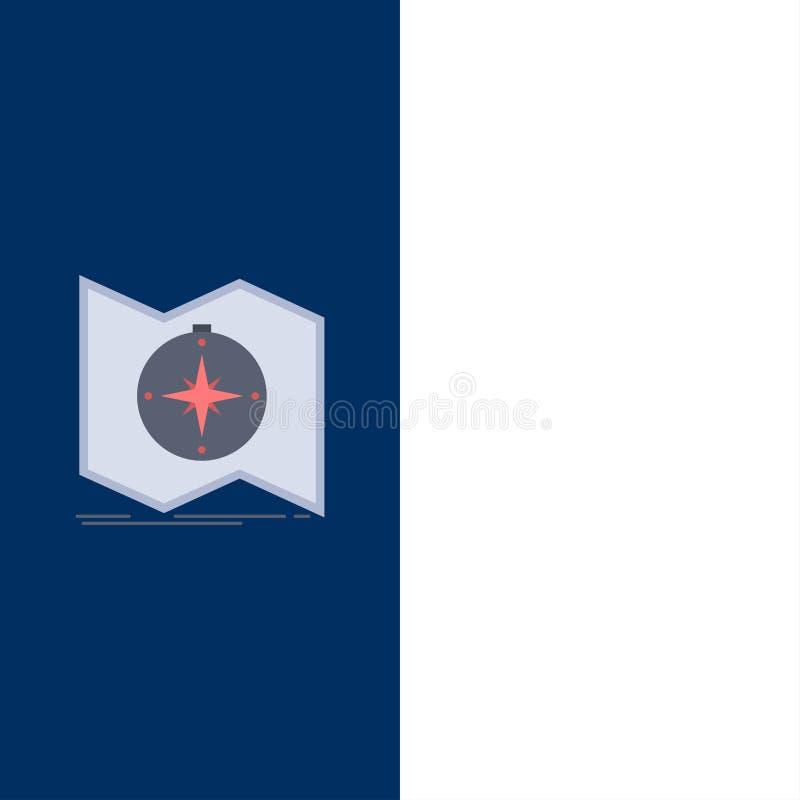 La direzione, esplora, traccia, traversa, vettore piano dell'icona di colore di navigazione illustrazione vettoriale