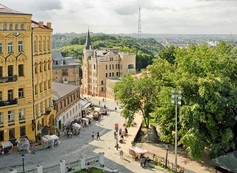 La discesa di Andrew a Kiev Ucraina fotografia stock