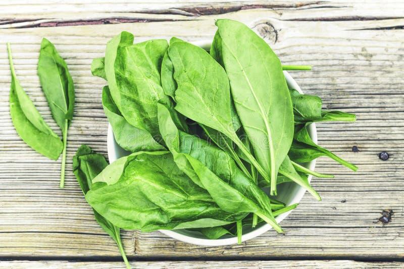 La disintossicazione, spinaci, alimento sano, senza glutine, è a dieta, è a dieta, immagine stock libera da diritti