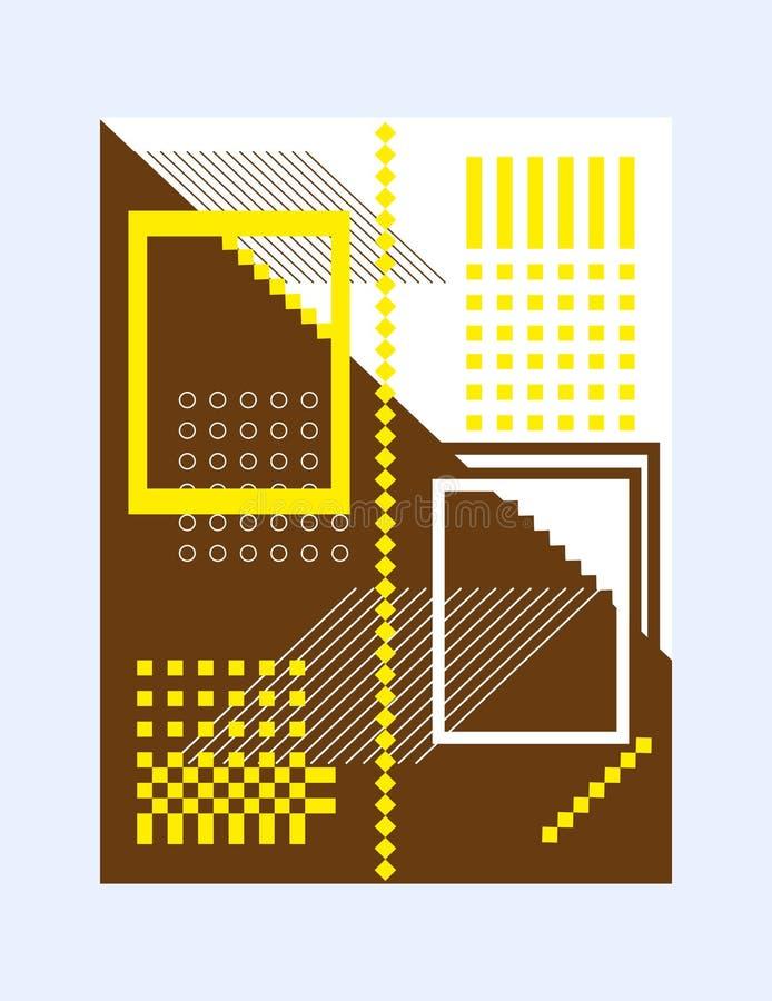 La disposición de las formas geométricas de la cubierta del folleto para la presentación o de la publicación de conceptos creativ stock de ilustración