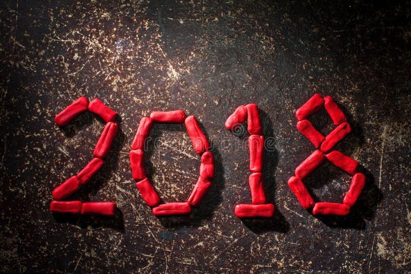 La disposizione delle cifre per il nuovo anno prossimo 03 immagine stock libera da diritti