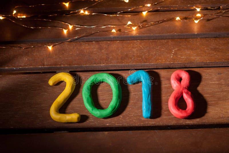 La disposizione delle cifre per il nuovo anno prossimo fotografia stock