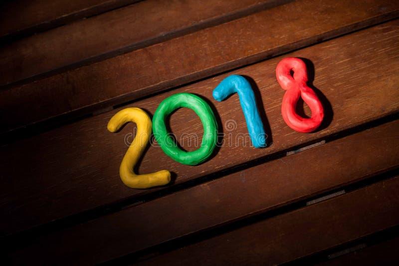 La disposizione delle cifre per il nuovo anno prossimo immagine stock libera da diritti
