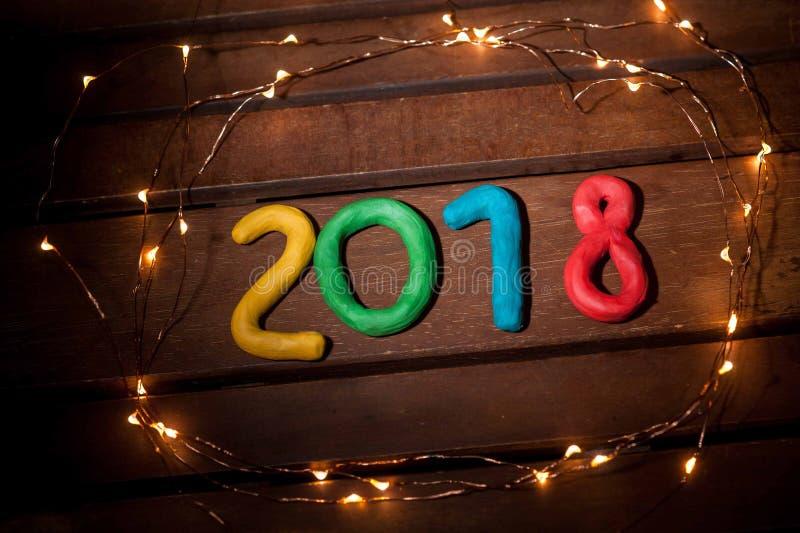La disposizione delle cifre per il nuovo anno prossimo immagini stock libere da diritti