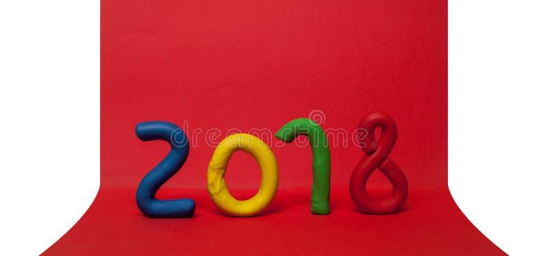 La disposizione delle cifre per il nuovo anno prossimo 01 fotografie stock
