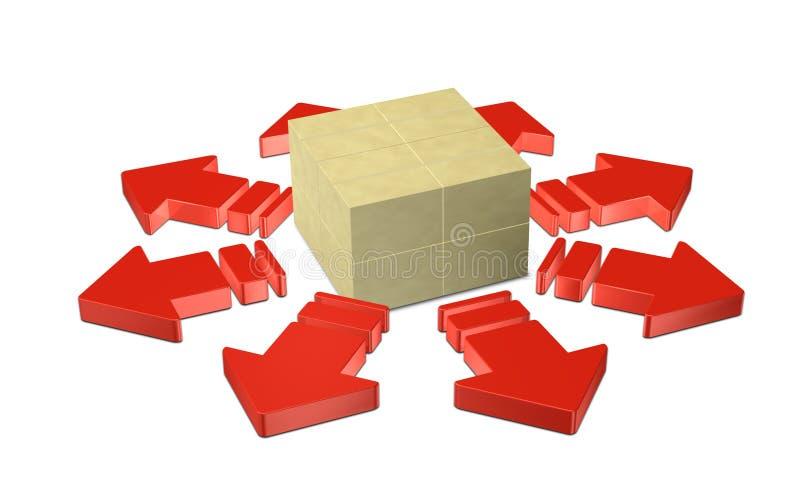 La distribution illustration de vecteur
