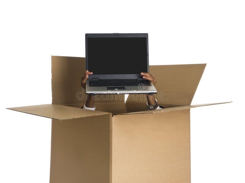 La distribution d'ordinateur portatif photo stock