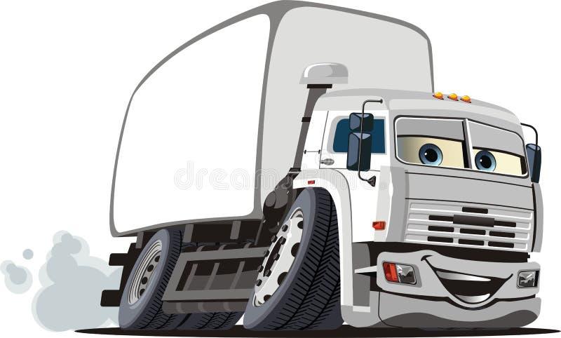 La distribution de dessin animé de vecteur/camion de cargaison illustration stock