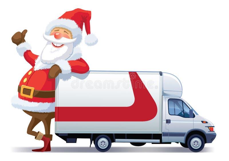 La distribution de Noël illustration libre de droits