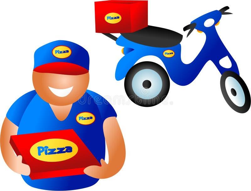 La distribution de pizza illustration de vecteur
