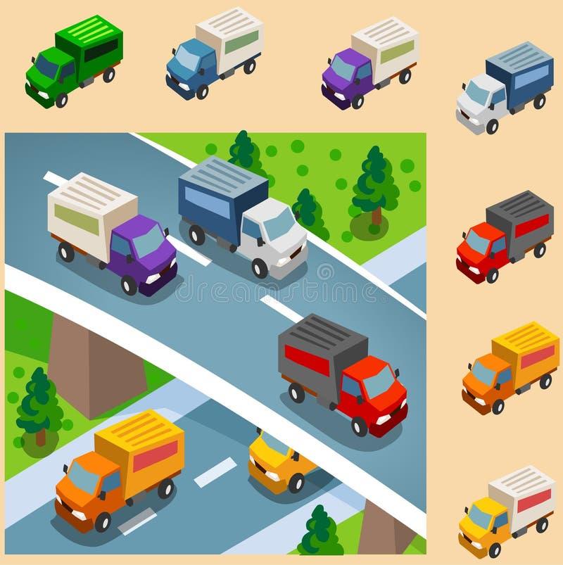 La distribution de véhicule de cadre illustration stock
