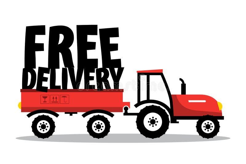 la distribution libèrent Symbole génial de vecteur avec le tracteur illustration de vecteur
