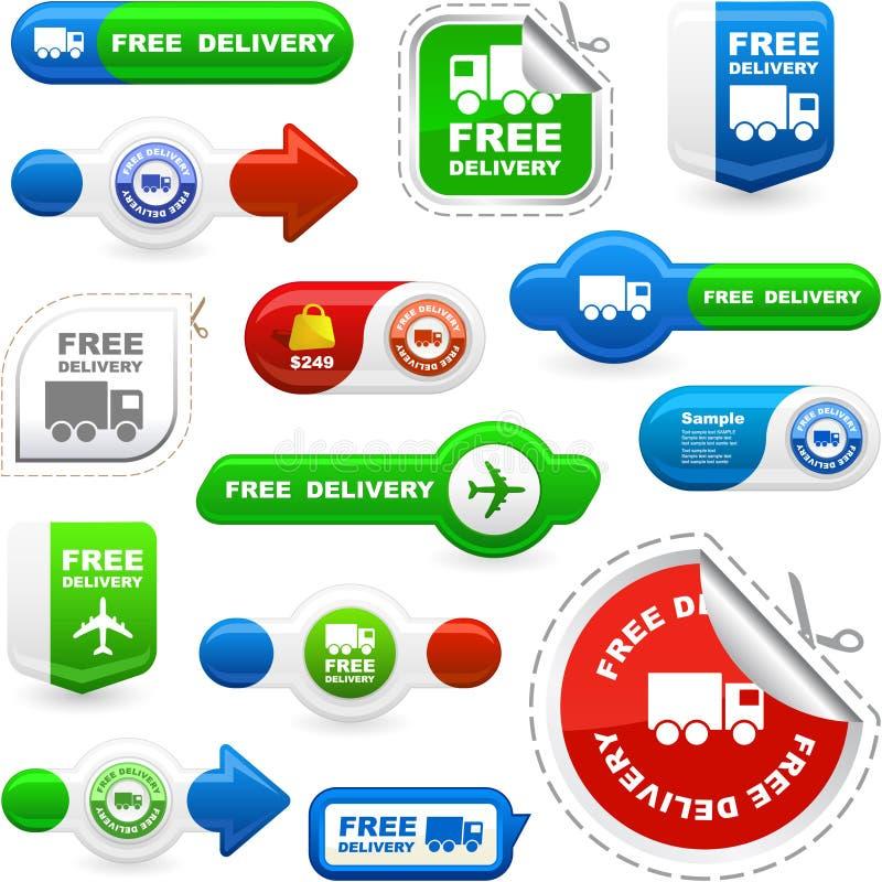 La distribution libre. illustration stock
