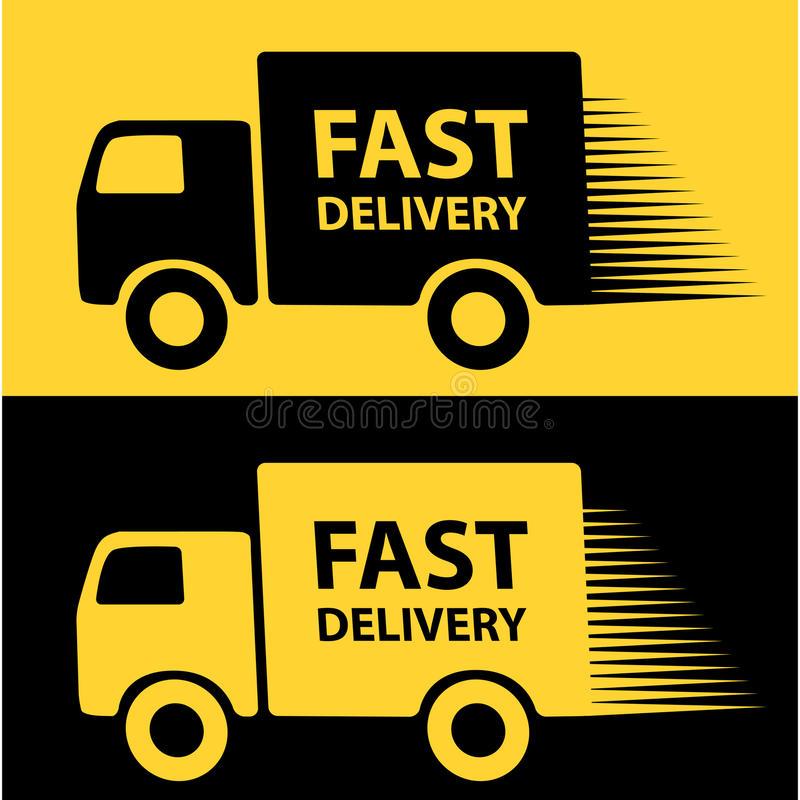 La distribution rapide illustration de vecteur