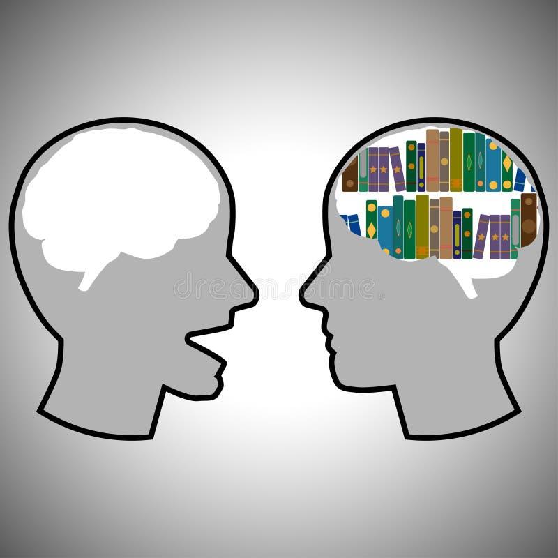La diversión dos cabezas habla el icono stock de ilustración