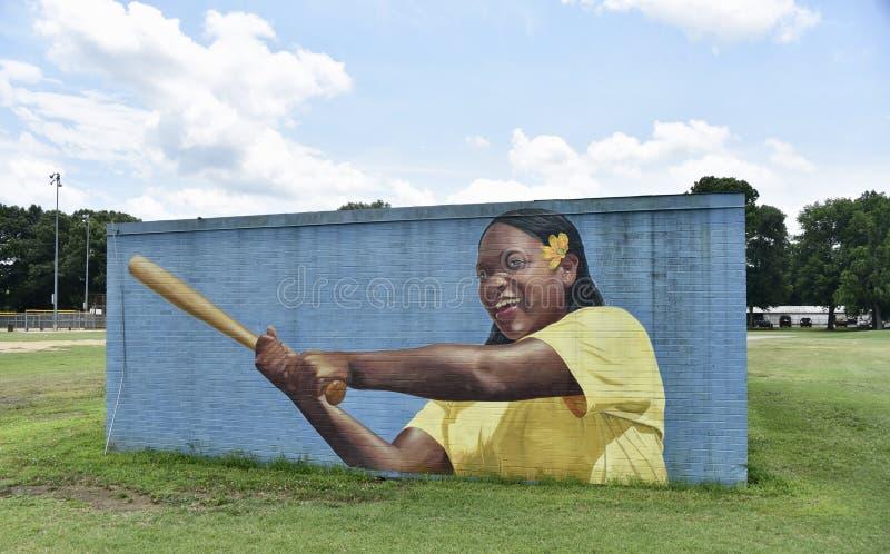 La diversión es toda alrededor de cara mural 4 Willow Park, Memphis, TN fotografía de archivo