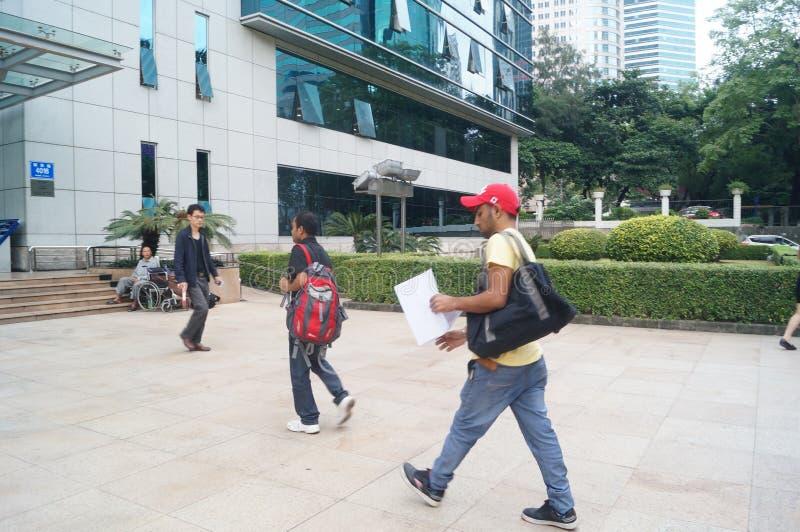 La división de la administración de la salida y de la entrada, la oficina de seguridad pública en Shenzhen foto de archivo libre de regalías