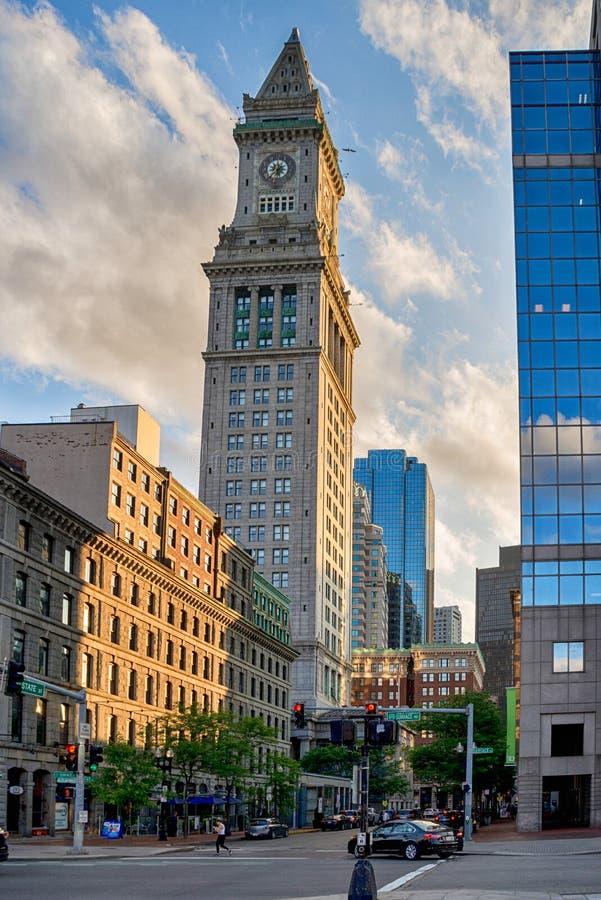 La dogana famosa di Boston negli Stati Uniti fotografie stock libere da diritti