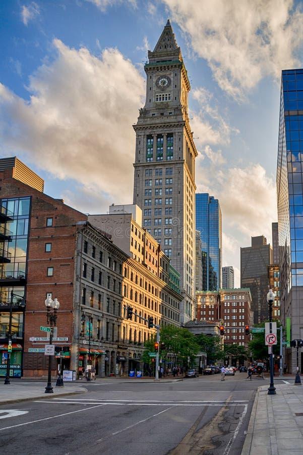 La dogana famosa di Boston negli Stati Uniti fotografia stock