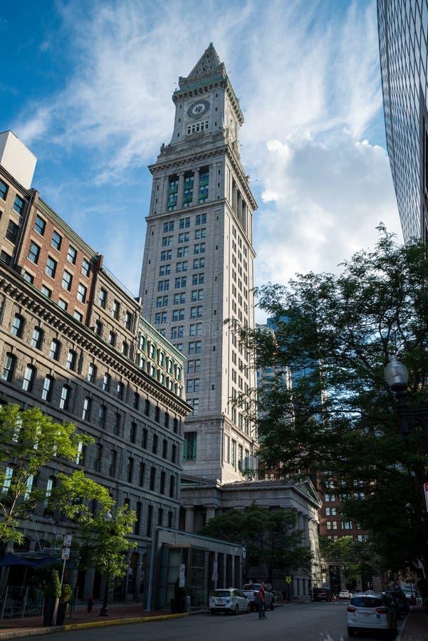 La dogana famosa di Boston negli Stati Uniti fotografie stock