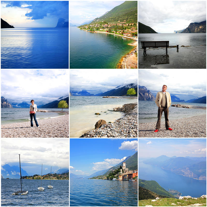 La Dolce Vita - Lago di Garda意大利 免版税图库摄影